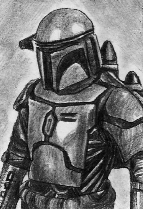 ACEO STAR WARS JANGO FETT ORIGINAL Hand Drawn Sketch Card By MIRACLE #Miniature | Art Cards By ...