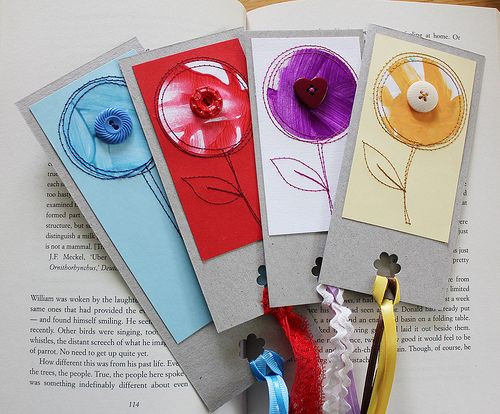 Bookmarks from kids art