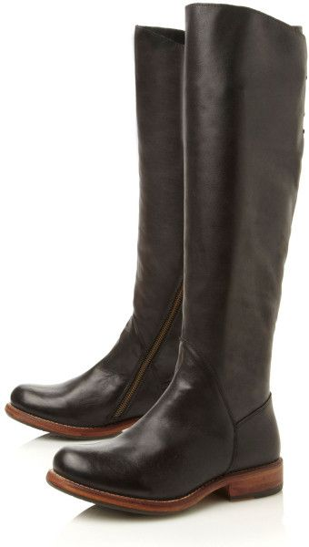 fd74b47191d3 Steve Madden Honour Laceup Back Boots in Black (Black Leather) - Lyst