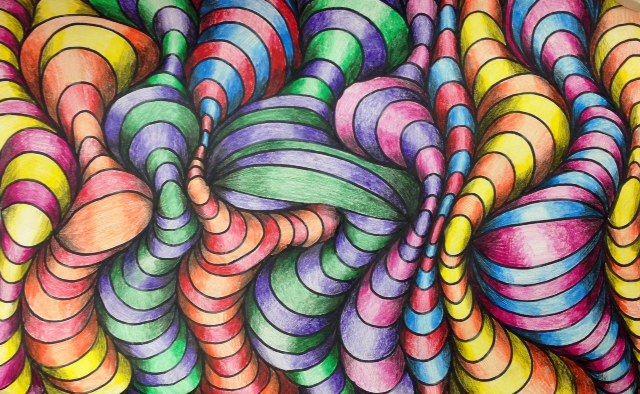 opitcal design | Optical illusions art, Illusion drawings