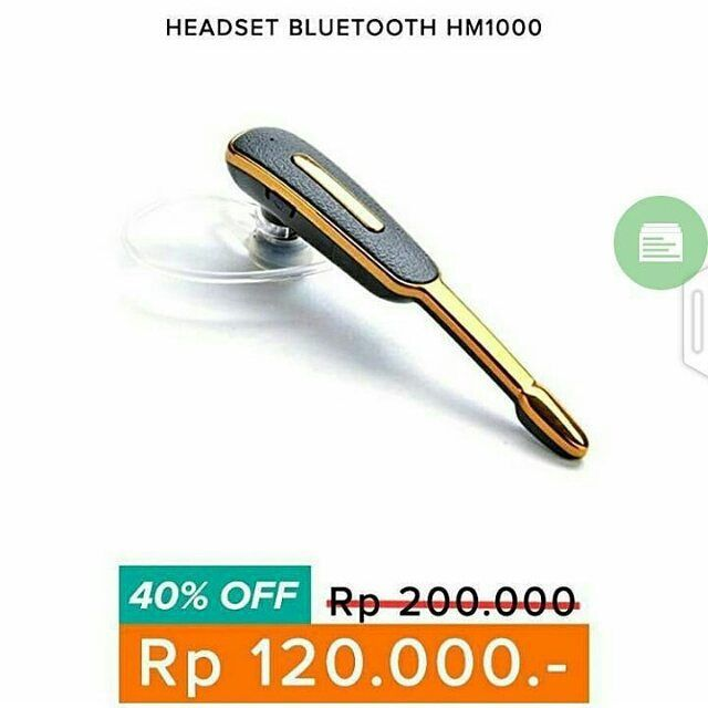 Headset Bluetooth HM1000 discount 40%. WA 087878775832  Saatnya Menelpon ga pake ribet harus pegang2 HP dgn Headset ini dengan suara yg Jernih Menelpon lama2 dgn pacartemansaudara jadi lebih nyaman. bisa sambil kerjasambil makansambil masak. Fungsi Nelpon dan Music jg bisa.. Handsfree Bluetooth Samsung HM1000 (Bisa 2 Kuping) Earphone / Headset Headset ini sangat Jernih suara yg keluar.. Bluetooth Version V3.0 Talk Time 4 Hour Standby Time 120 Hour Operating Range 10 meter Microphone Yes…