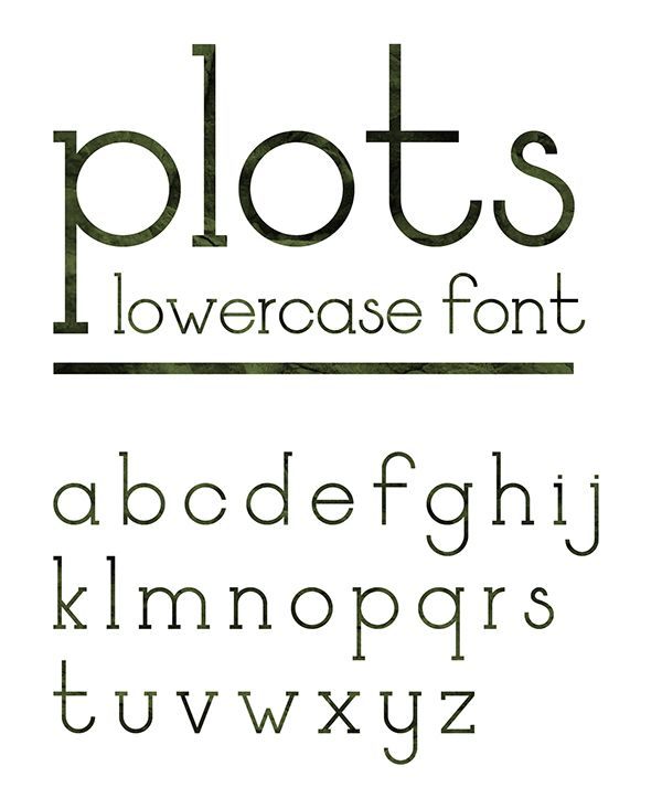 plots - a free lowercase font by Maksim Goffin #freefont