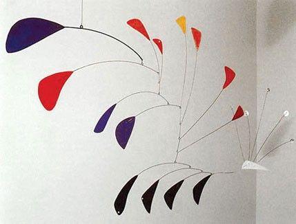 """Dit werk van Alexander Calder heet """"Pauw"""". Kun jij de pauw herkennen?"""
