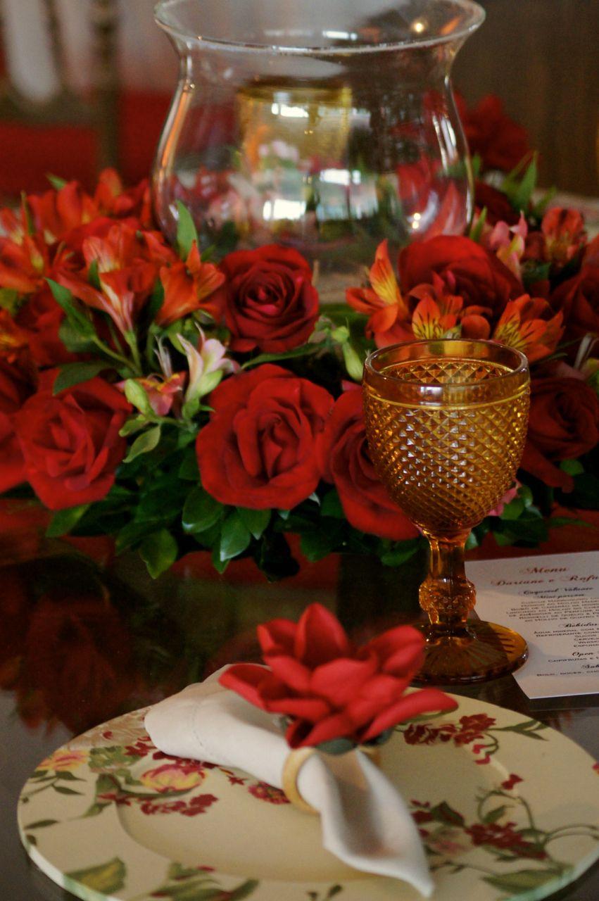 Arranjo Mesa Convidados Vaso De Vidro Com Flores Do Campo