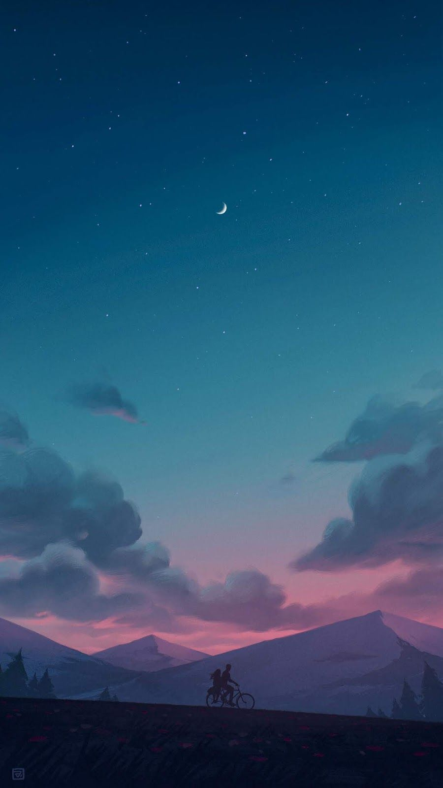 Calm Night Wallpaper Iphone Android Background Followme Scenery Wallpaper Anime Scenery Wallpaper Anime Scenery