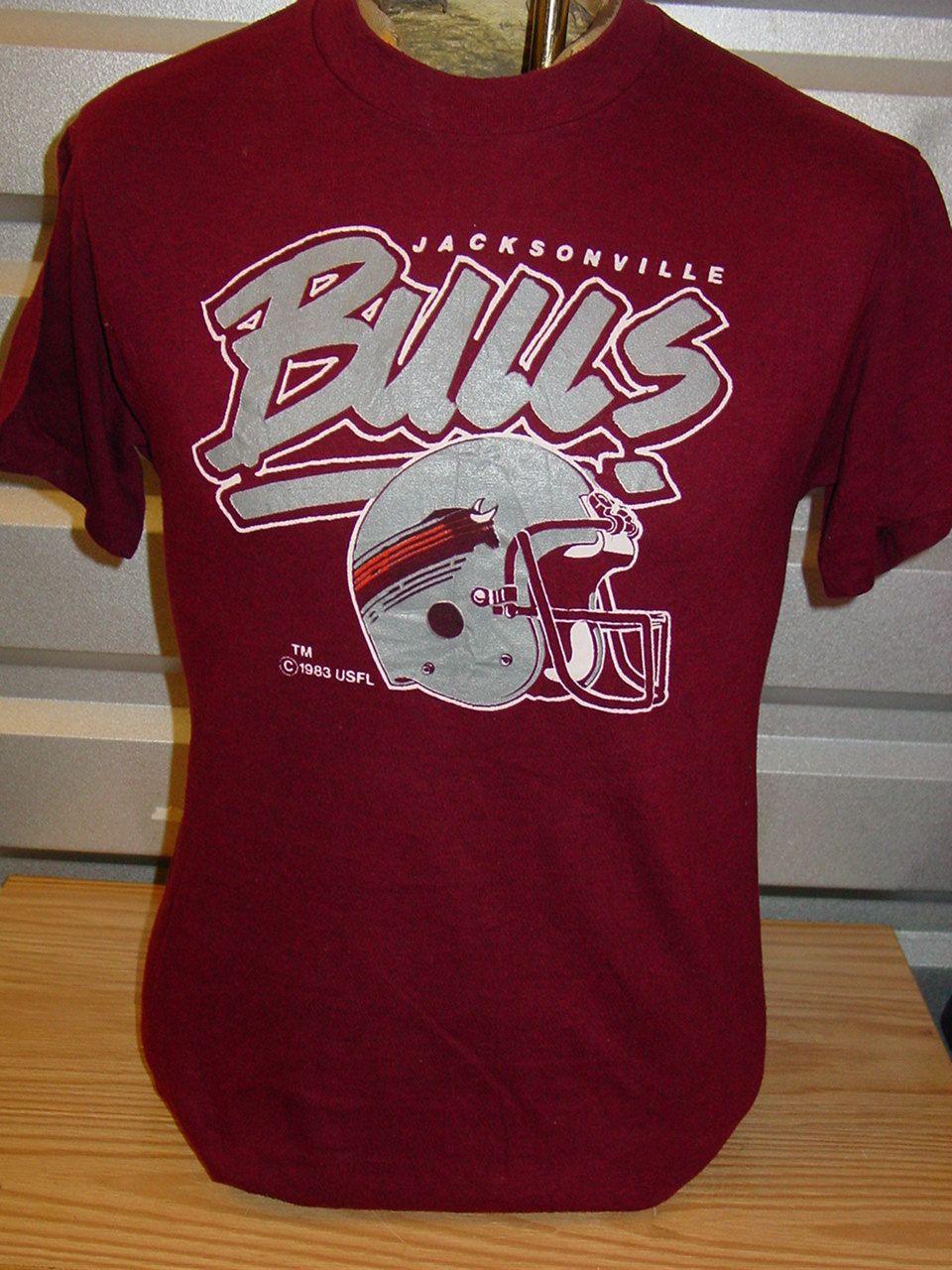 vintage 1983 Jacksonville Bulls USFL football t shirt by vintagerhino247 on Etsy