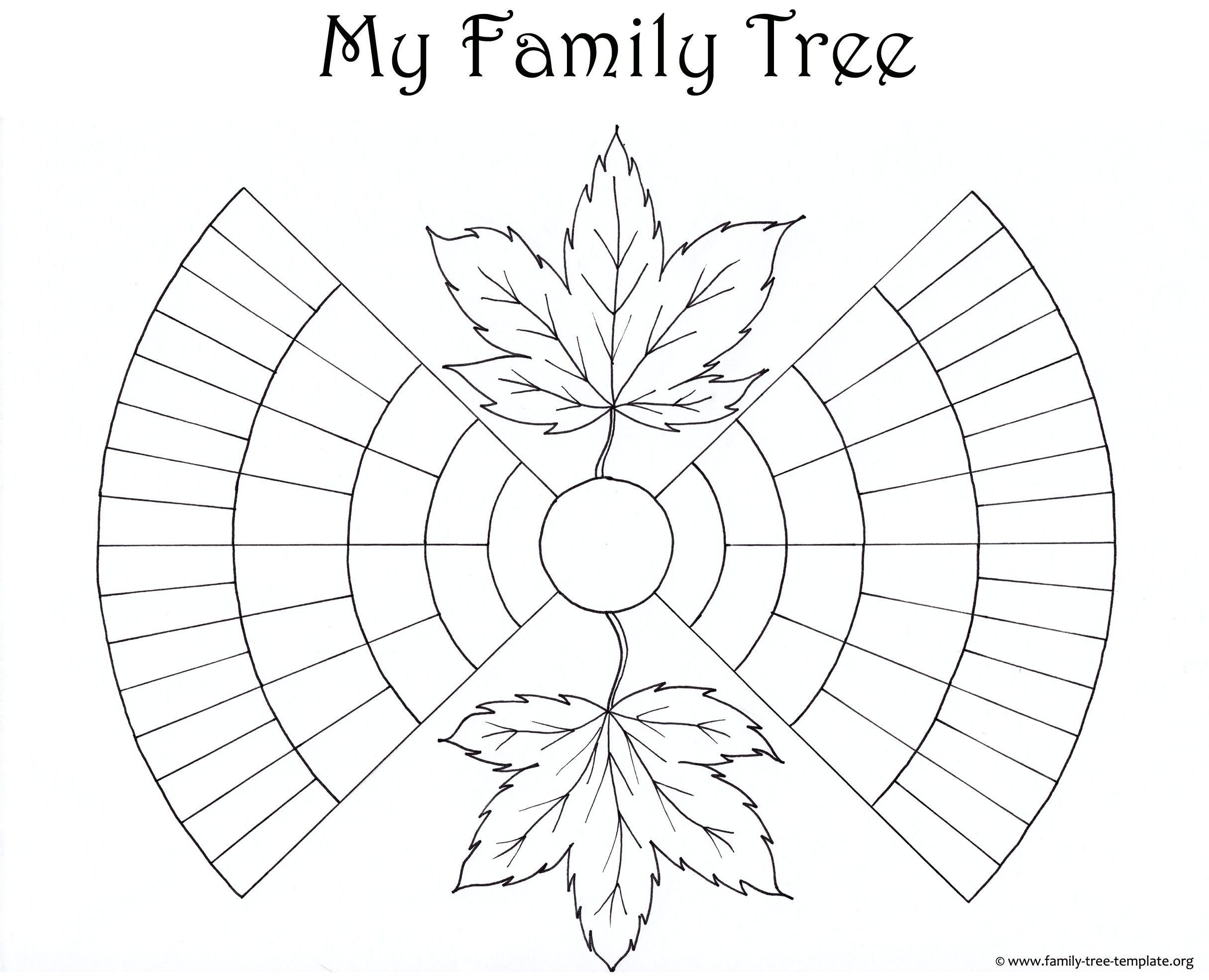 Unique Free Blank Family Tree Template Exceltemplate Xls