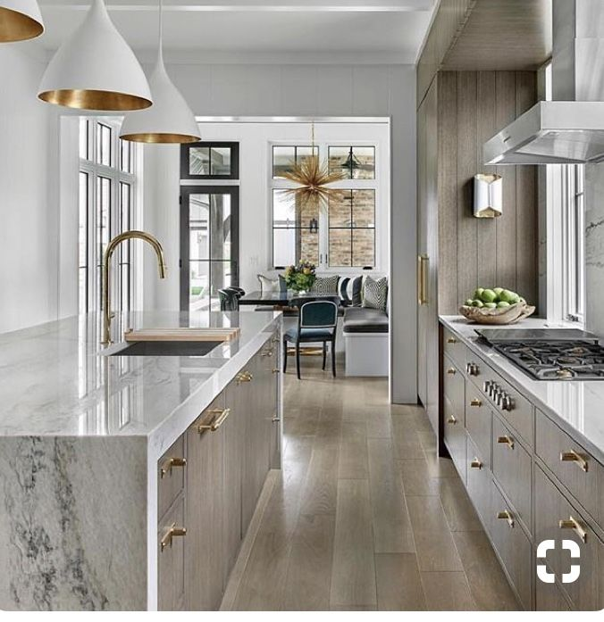 25 Absolutely Gorgeous Transitional Style Kitchen Ideas: Breakfast Nook/banquette Off Of Kitchen? I Also Like The