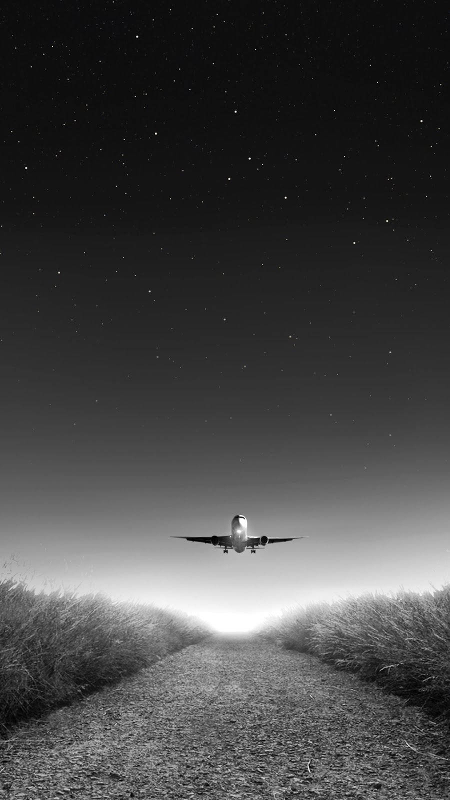 Starry Night Airplane Wallpaper Wallpaper Plane Wallpaper