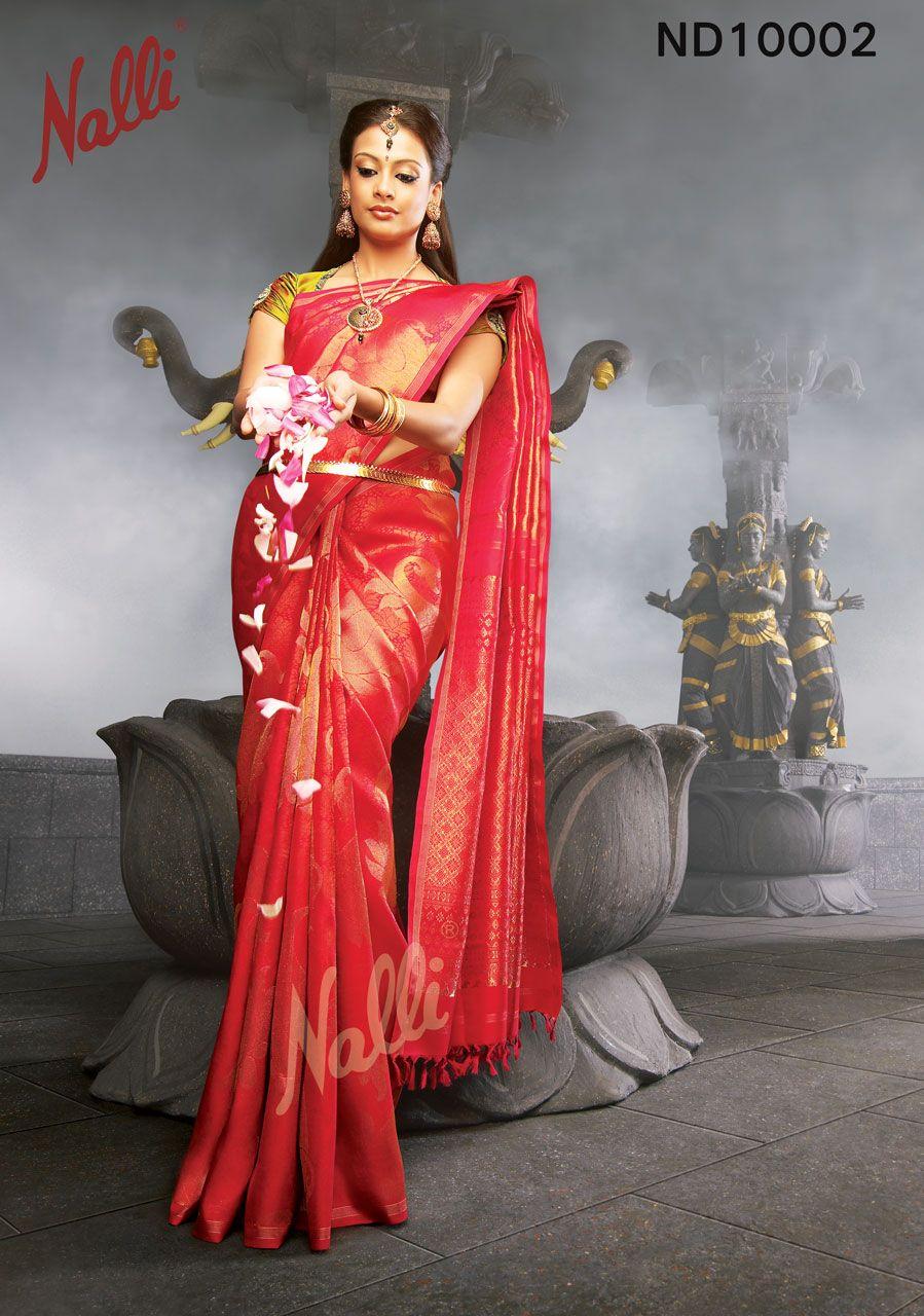 Traditional Saree Festival Saree   Women Sari Silk Saree Red Color Sari Kanchipuram silk sarees Wediing Wear Indian Saree