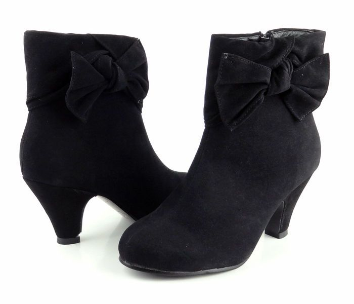 Womens Ladies Chunky High Block Heel Heel Ruffle Chelsea Ankle Boots Shoes Size