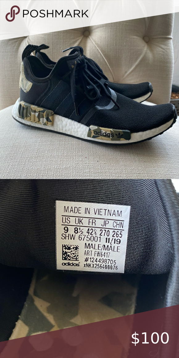 Adidas NMD_R1 SHOES Black/Camo in 2020
