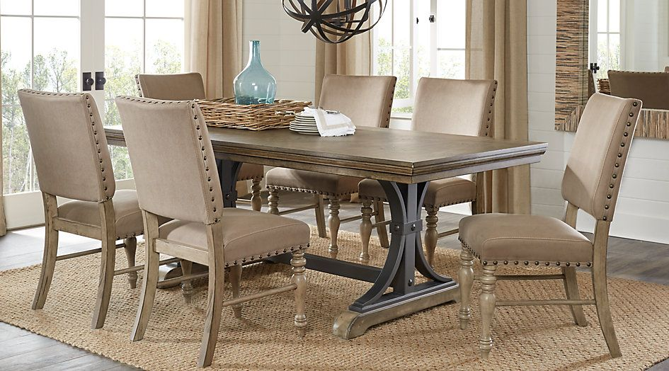 588 Sierra Vista Driftwood 5 Pc Rectangle Dining Set from Furniture - dining room table and chair sets