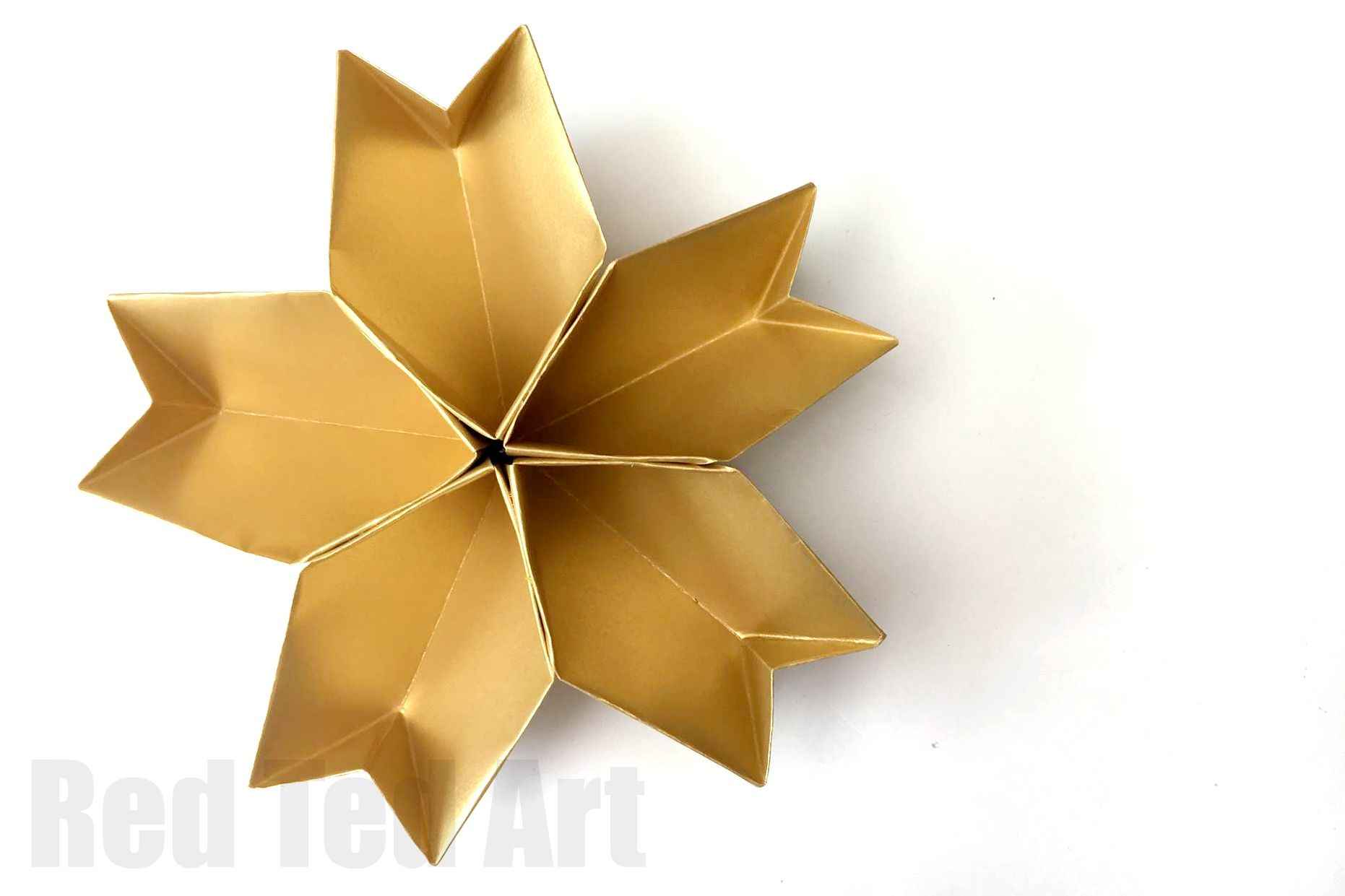 3D Paper Star - Easy Paper Crafts - Craft Ideas for kids | 1241x1862