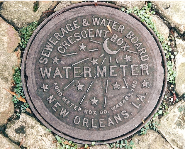The New Orleans Watermeter After Katrina These Were Replaced With Regular Covers So If You Spot One On The Ground You Re Lucky Snap A Picture To Water