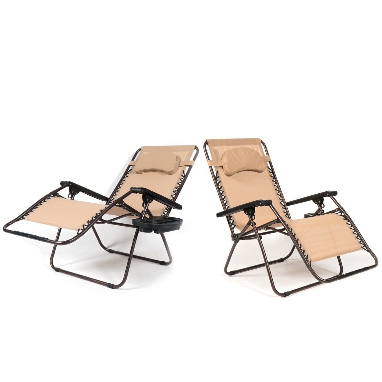 Belleze xl oversized pack zero gravity chairs patio lounge cup