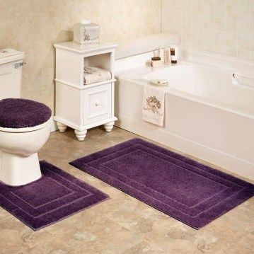 Nice Bathroom Set Soho Solid Color Bath Rugs Or Contour Mats Plum Complete Sets