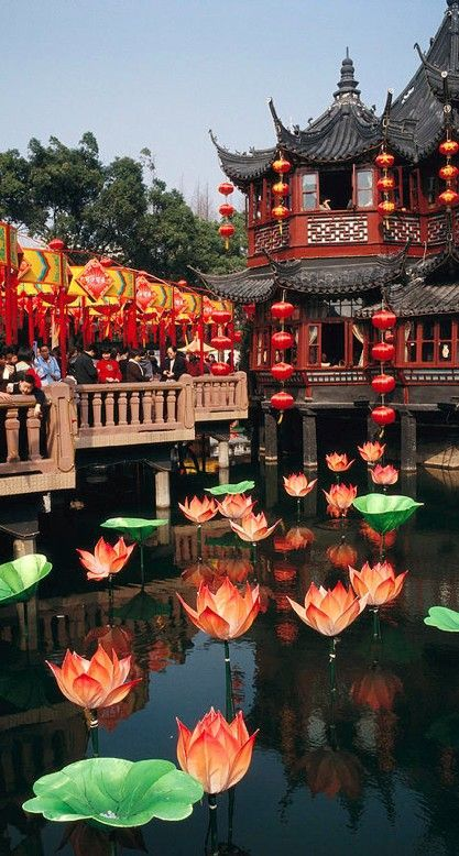 Yuyuan Garden tea house In Shanghai, China • photo: Justin Guariglia on Fine Art America  (I had tea there and it was delightful)