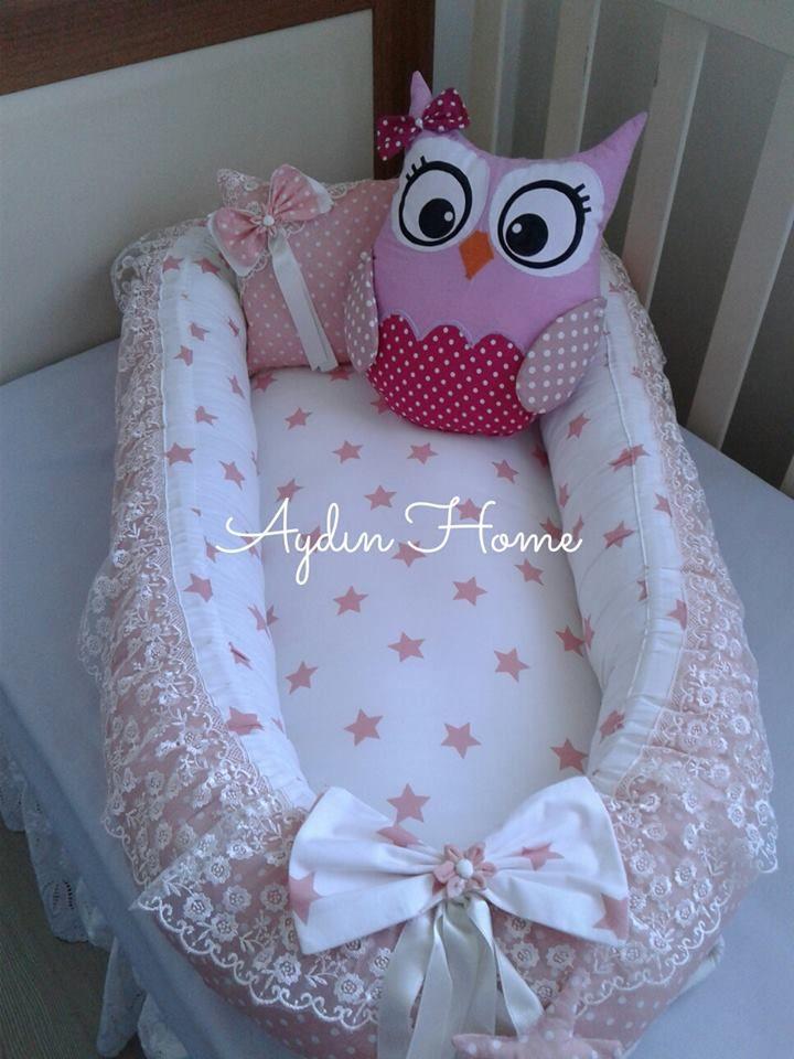 babynest baby bed set bebek uyku seti pillows owl | Coisas para ...