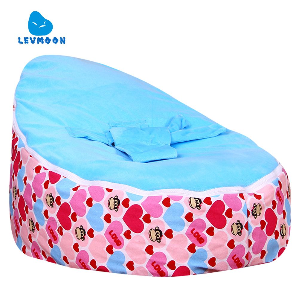 Levmoon MediumMouth Monkey Bean Bag Chair Kids Bed For Sleeping Portable Folding Child Seat Sofa Zac