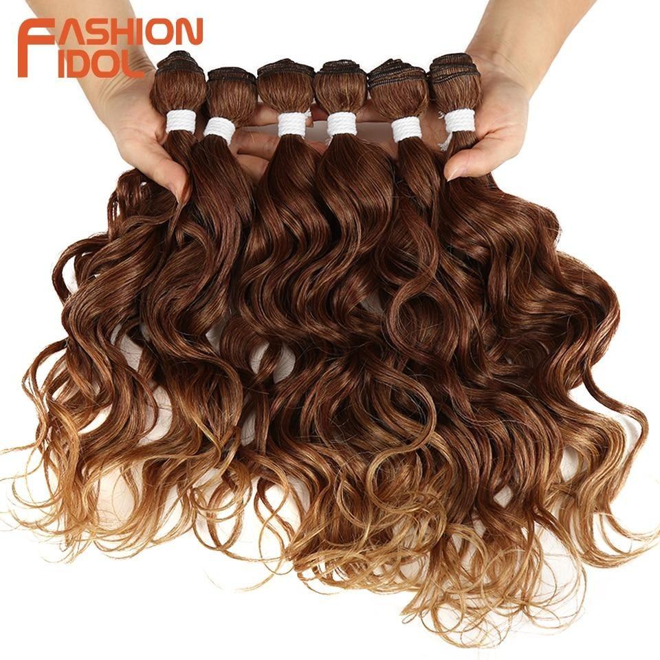 FASHION IDOL Deep Wave Hair Weave Bundles. 1620 Inch