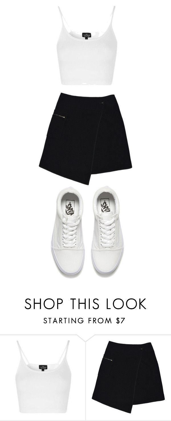 """""""Без названия #740"""" by gazieva-dinara ❤ liked on Polyvore featuring Topshop, MARC CAIN and Vans"""