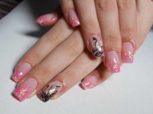 katya nails glitter gel n gel pink gold schwarz. Black Bedroom Furniture Sets. Home Design Ideas