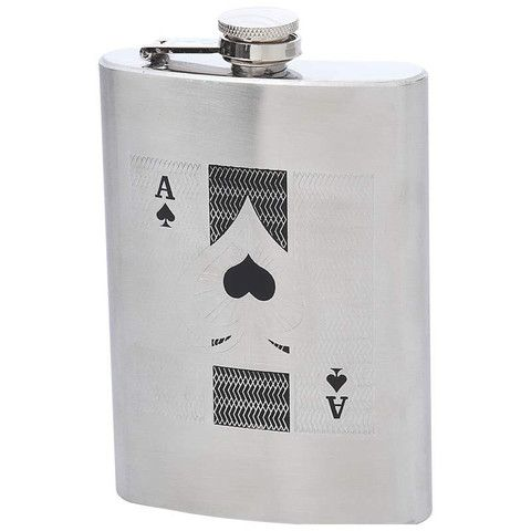 Maxam Engraved 8oz Stainless Steel Flask