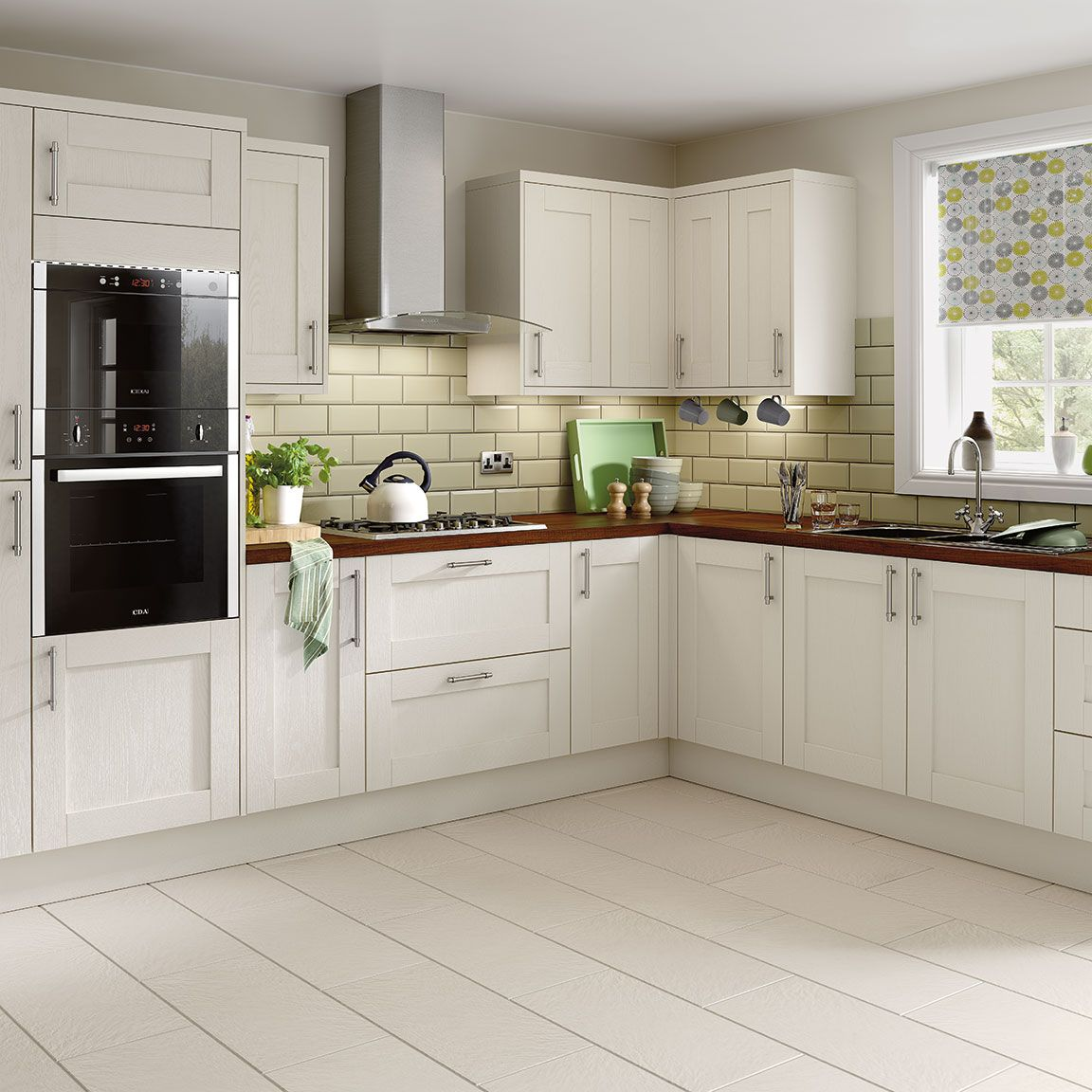 Simply hygena southfield ivory kitchen kitchen for Home base kitchen units