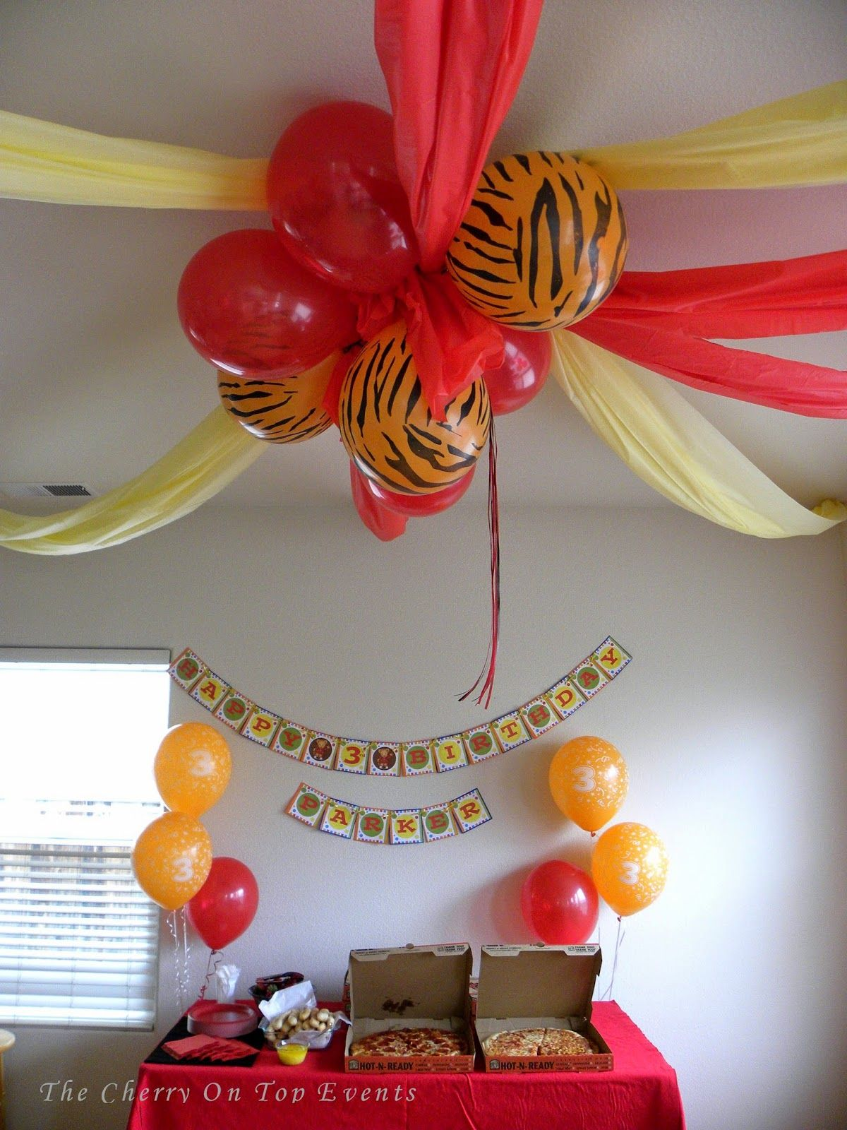 The Cherry On Top Events Party Blog: A Daniel Tiger's 3rd Birthday Party! #safaribirthdayparty
