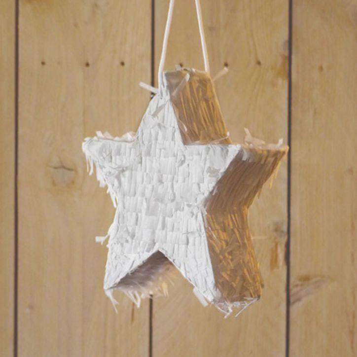 Stern Piñata weiß