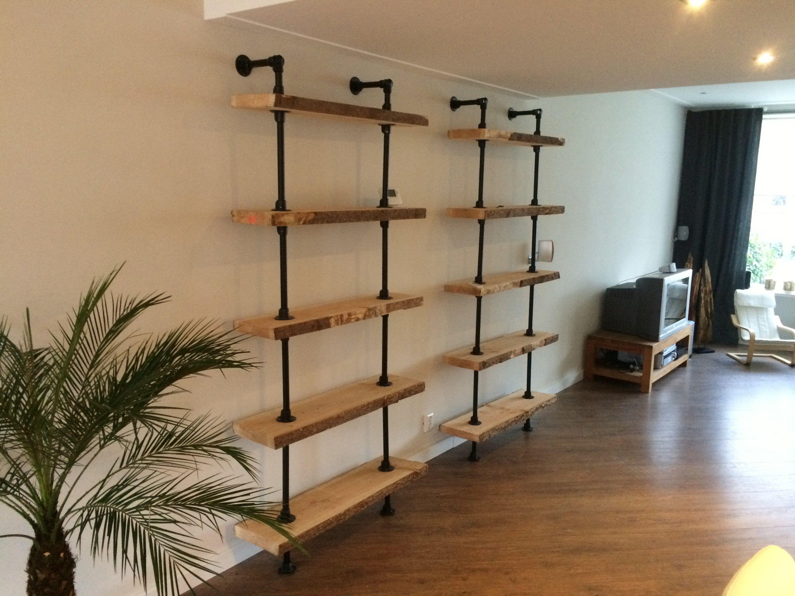 Open Wandkast Van Steigerbuis Bookshelf In 2019