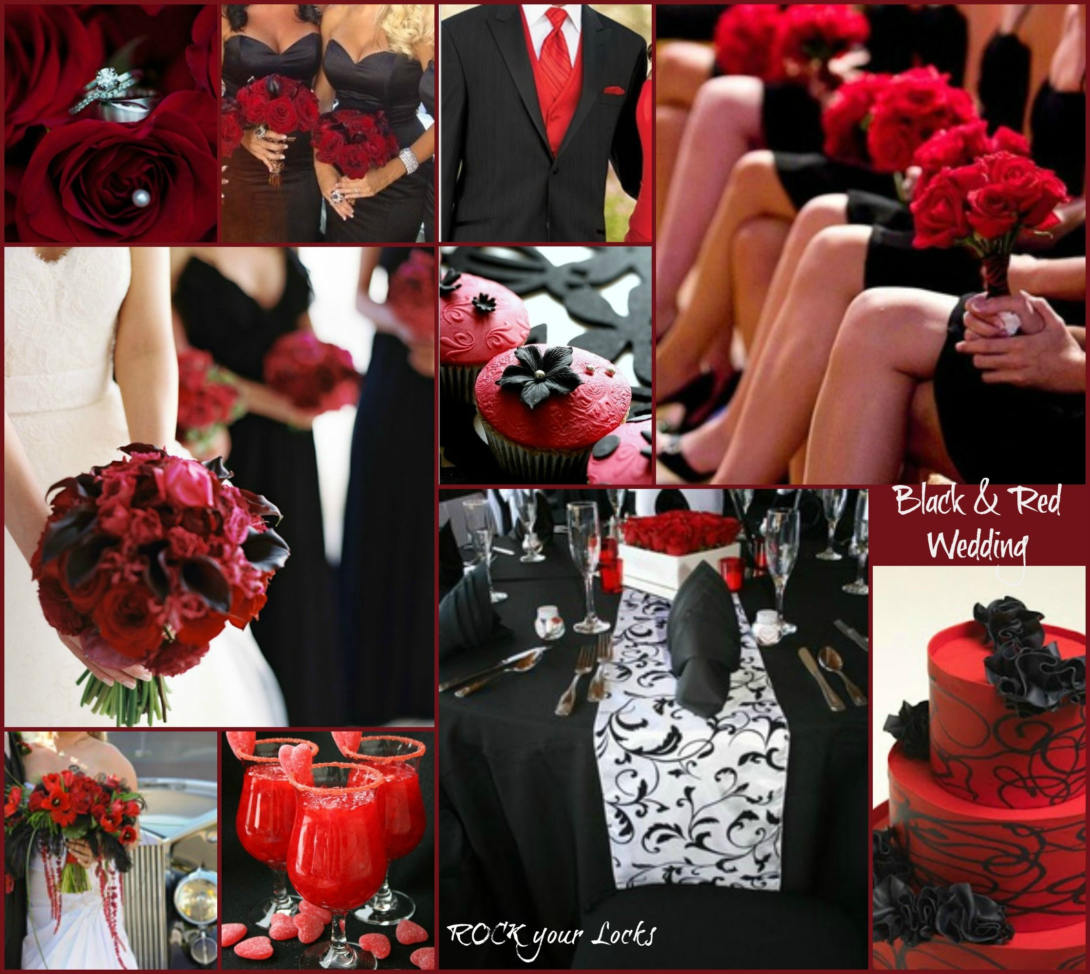 Red And Black Wedding Theme Https://www.facebook.com/photo