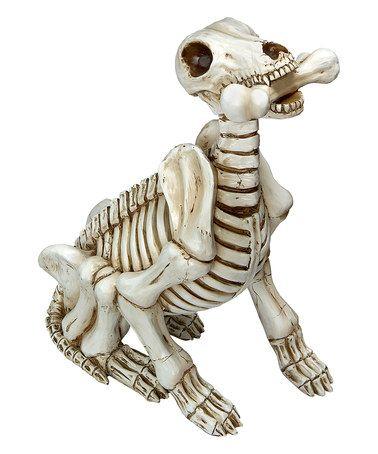 Love this Fetch the Skeleton Dog Statue on #zulily! #zulilyfinds