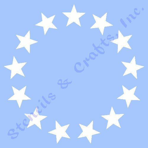 "STAR STENCIL MANY STARS CELESTIAL STENCILS TEMPLATE TEMPLATES CRAFT NEW 6/"" X 5/"""