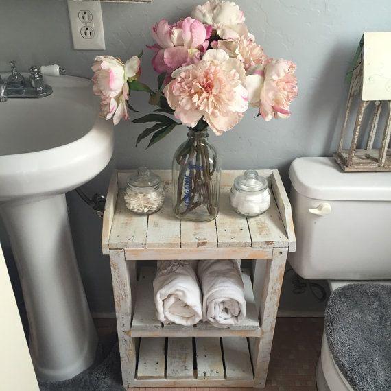 Shabby Chic Wood Bathroom Shelves.