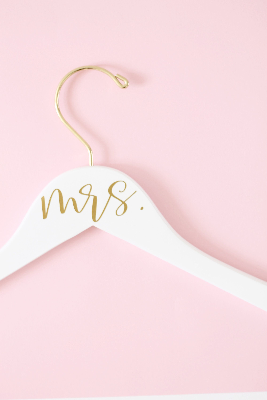 Mrs. Bridal Hanger Wedding Dress Hanger Bride Hanger