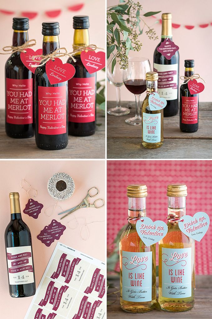 personalized valentine's day wine labels, Ideas