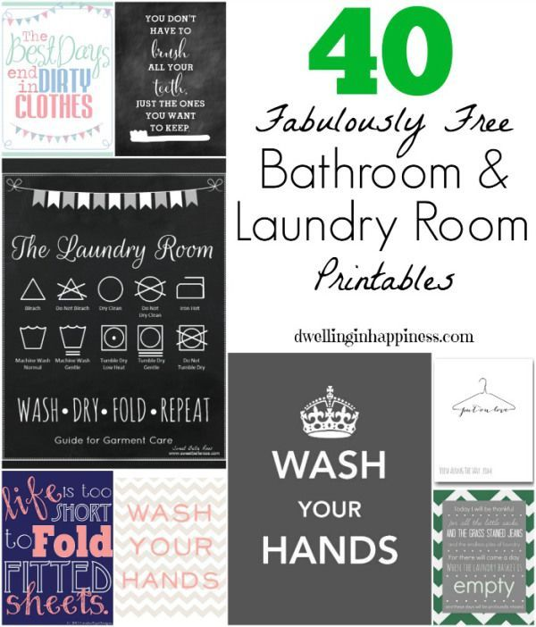 40 Fabulously Free Bathroom Laundry Room Printables Salle De