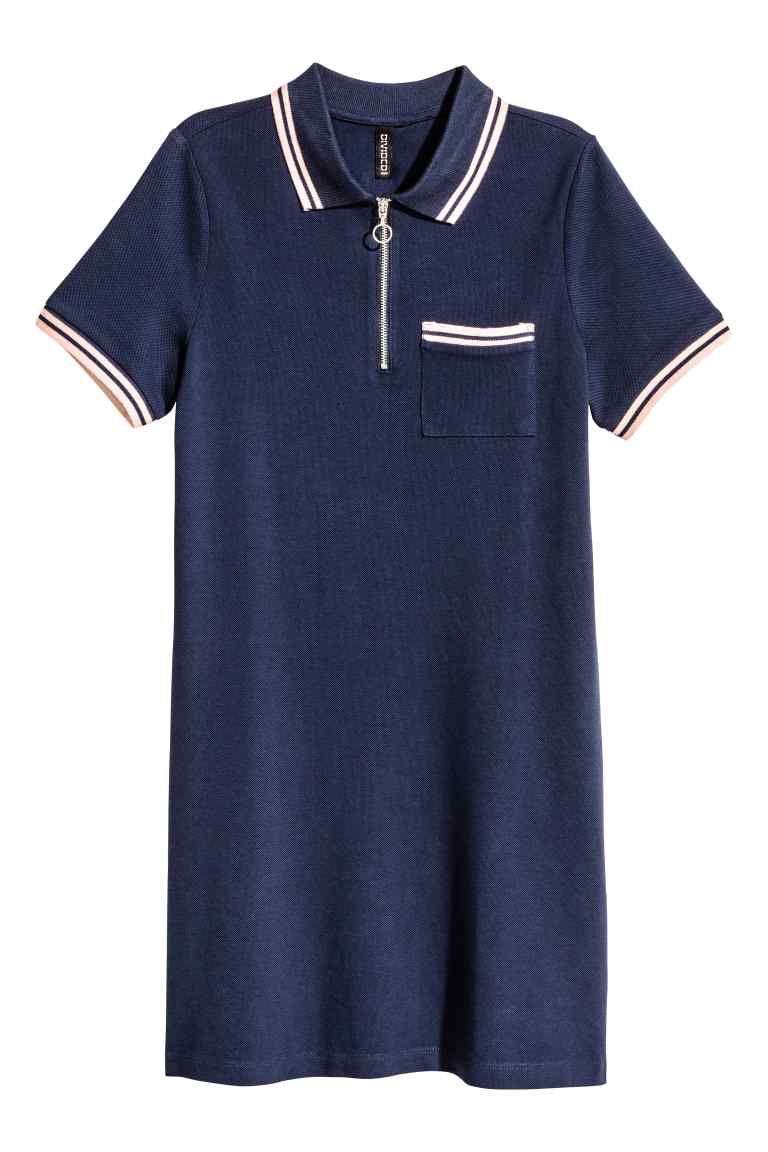 pretty nice shop first look Robe en piqué avec zip | clothings pour filles | Fashion ...