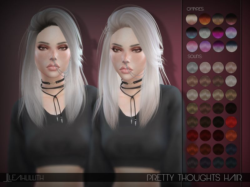 Pretty Thoughts Hair Found In Tsr Category 39 Sims 4 Female Hairstyles 39 Sims 4 Sims Hair Sims