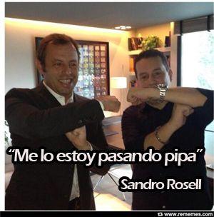 Sandro Rosell está intentando convertirse en un nuevo integrante de los Toiss, pero parece que la cosa está difícil. #amigosdeneymar
