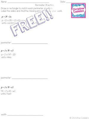 Perimeter Formulas- Rectangles Perimeter formula, Classroom - spreadsheet google formulas
