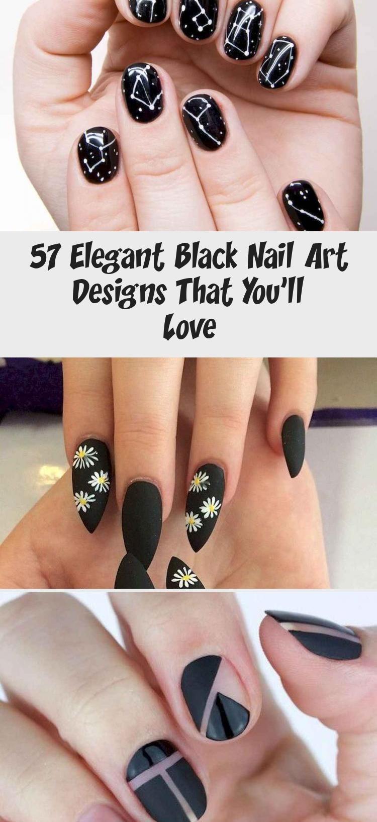 Photo of 57 Elegant Black Nail Art Designs That You'll Love – Nail Art