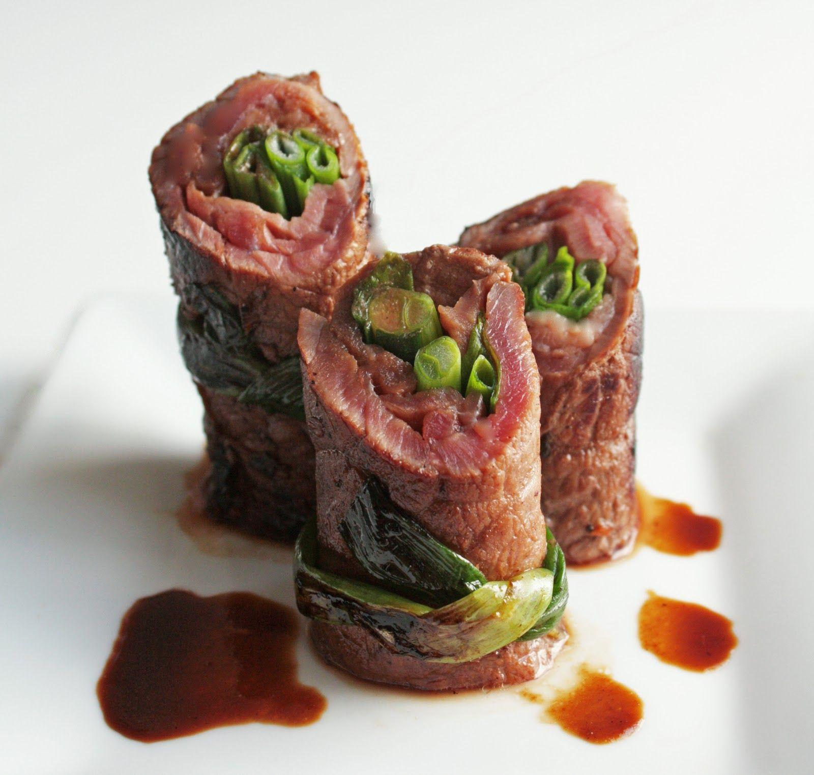 Beef Negimaki (Steak & Scallion Rolls) - omit brown sugar for a low-carb recipe