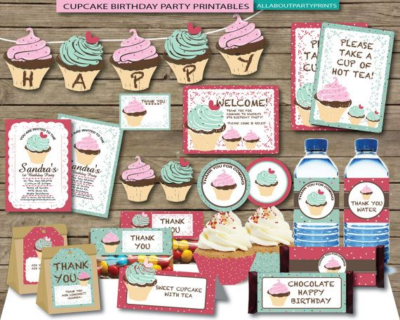 PDF format-Instant Download Cupcake Party von AllAboutPartyPrints