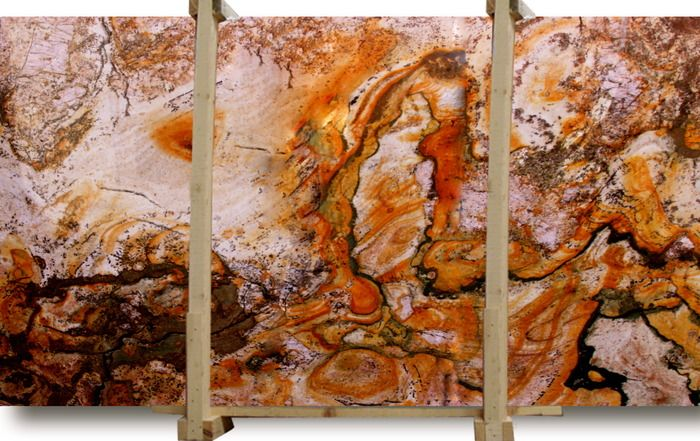 Master Bath Rare Granite Slabs