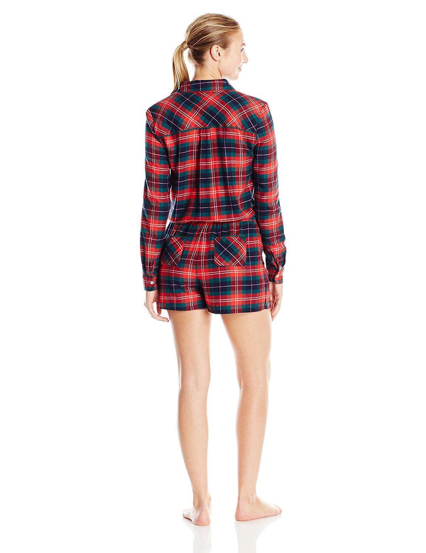 4e41b11e1942 Jane   Bleecker Women s Flannel Romper at Amazon Women s Clothing store