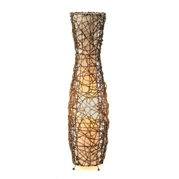 Fluted Rattan Floor Lamp   Rattan floor lamp, Rattan and Floor lamp