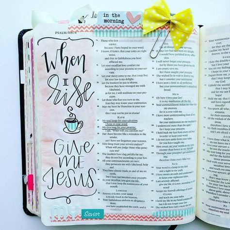 Bible Journaling and Illustrated faith. I love these color combos and the bow is not awful lol. Check out more Bible Journaling ideas and pin this one for later!